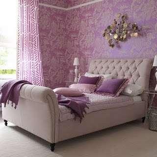 quarto de casal lilas violeta