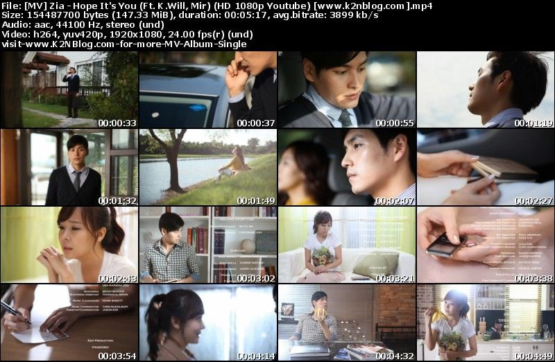 [MV] Zia   Hope Its You (Ft. K.Will, Mir) (HD 1080p Youtube)
