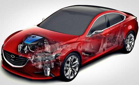 Mazda i-ELOOP Cutway